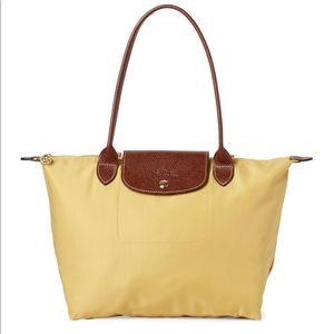 Longchamp Mustard Le Pilage Large Nylon Bag